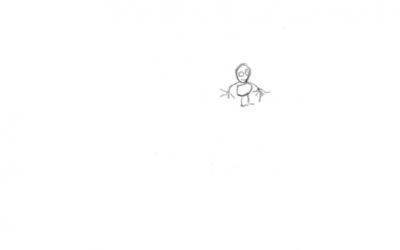 Když dítě namaluje malou postavu…